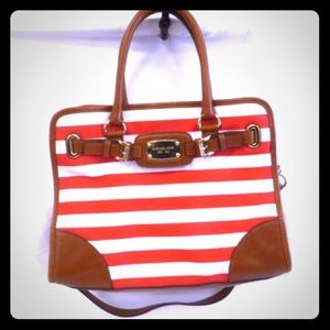 Michael Kors Leather and canvas striped purse 👜